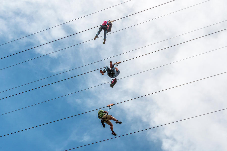 Three on a Zip Line by SR Green