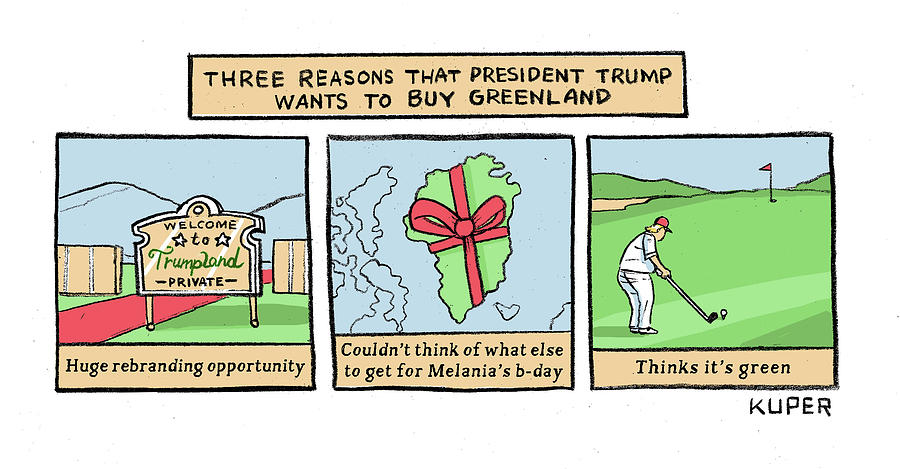 Three Reasons Drawing by Peter Kuper