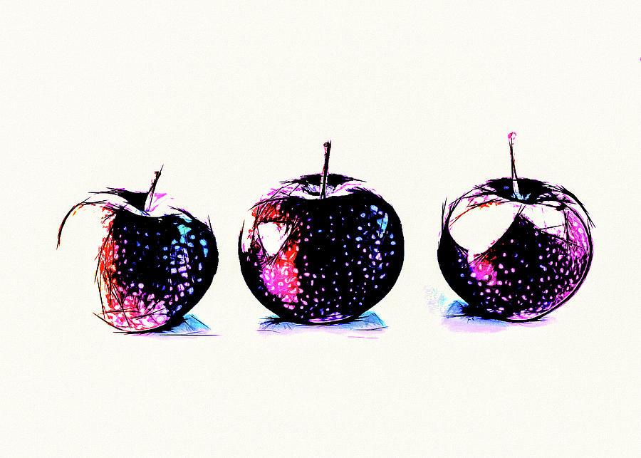 Three Red Apples by Bob Orsillo
