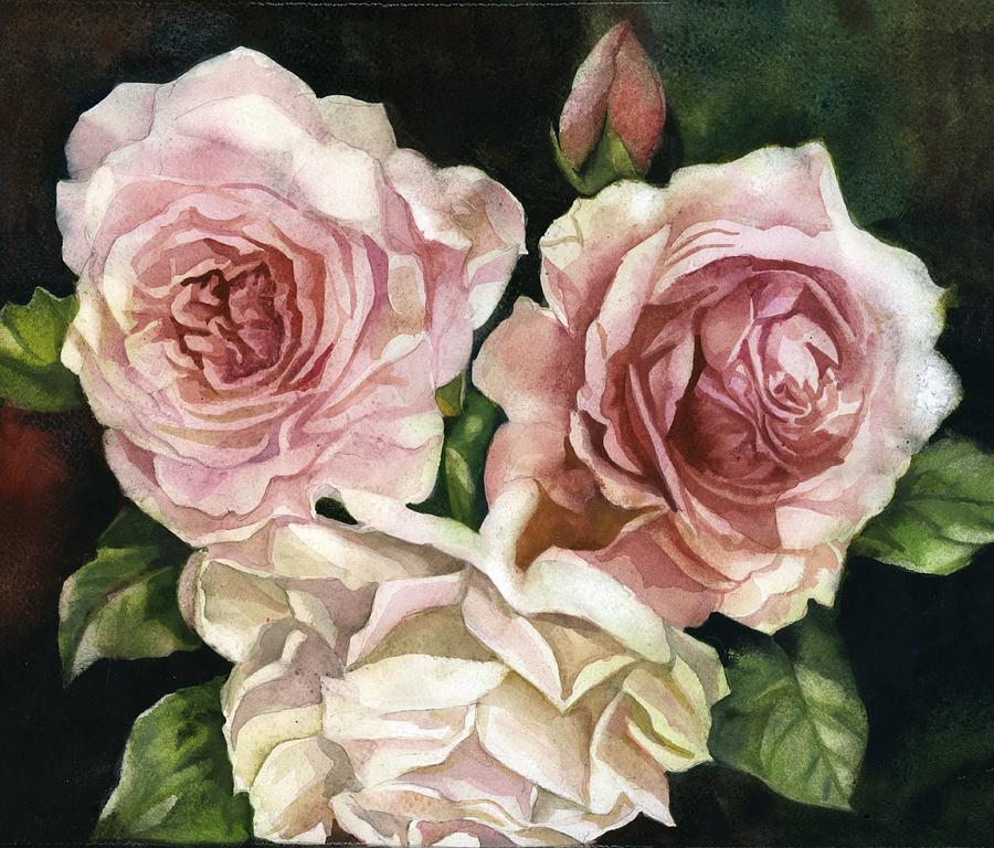 three roses by Alfred Ng