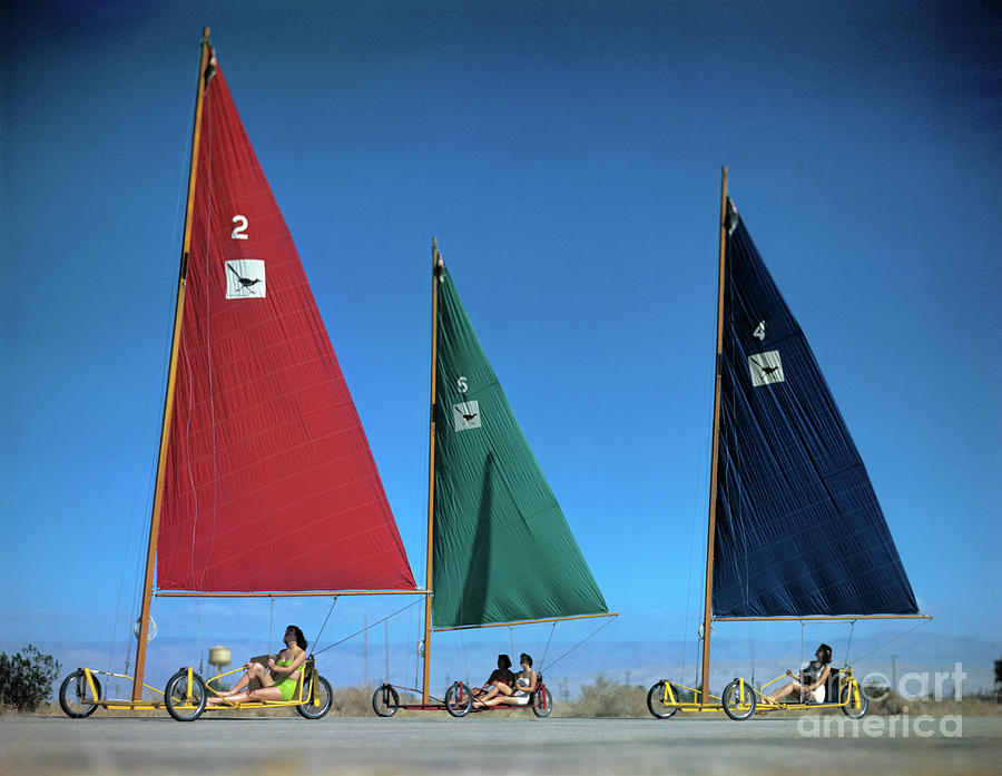 Three Sand Gliders On Road Photograph by Bettmann