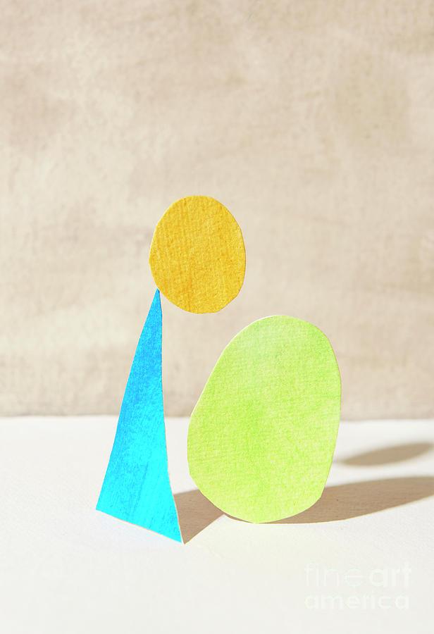 Three Shapes Made Of Paper Photograph by Tara Moore