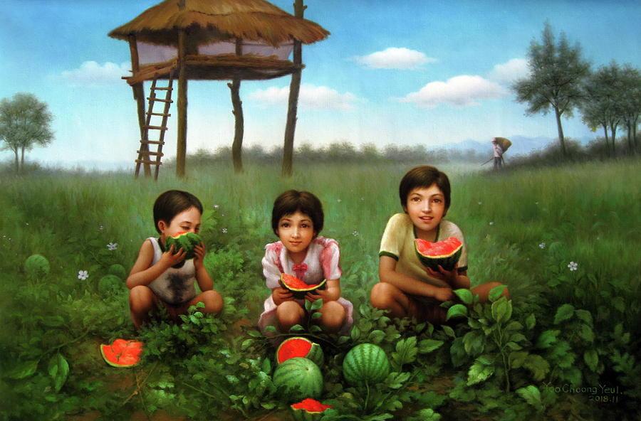 Three siblings by Yoo Choong Yeul