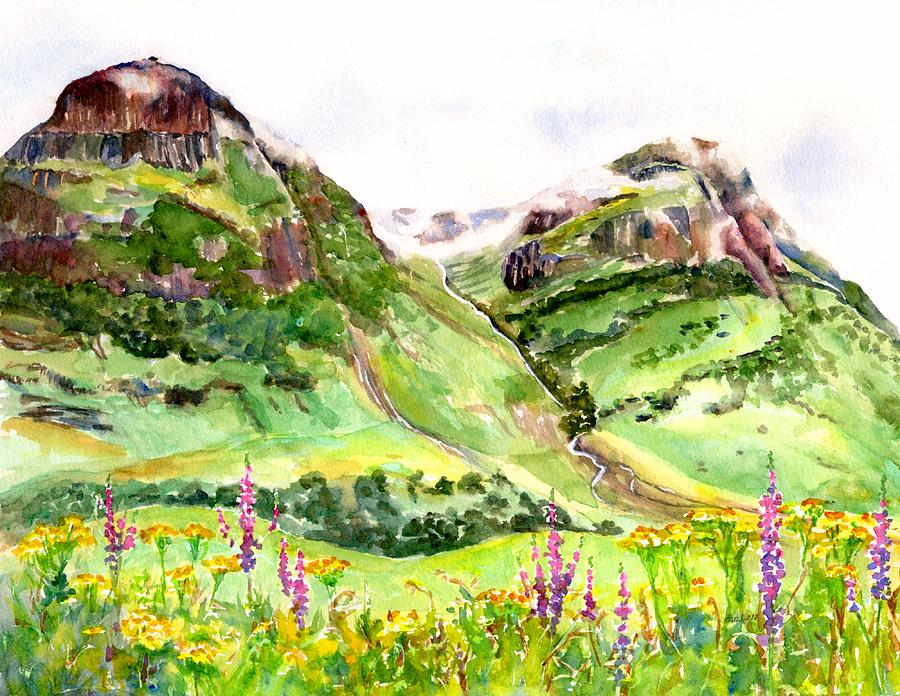 Three Sisters Glen Coe Scotland  by Carlin Blahnik CarlinArtWatercolor