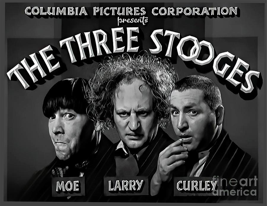 Three Stooges Title Still - circa 1935 by Doc Braham