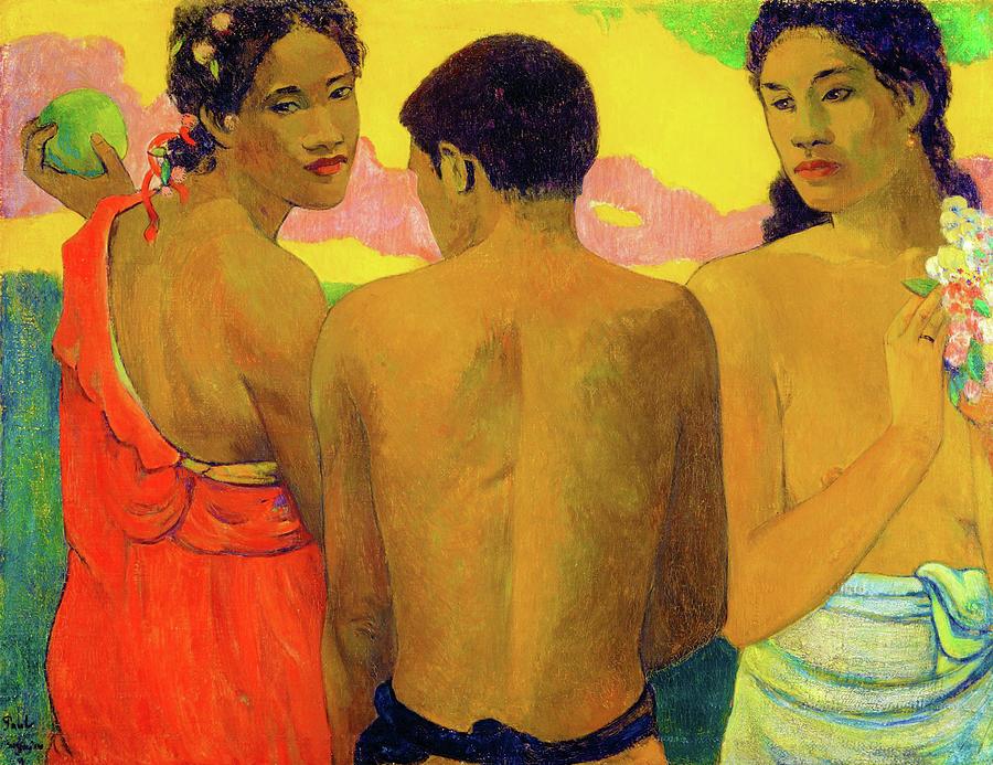 Three Tahitians Painting - Three Tahitians - Digital Remastered Edition by Paul Gauguin