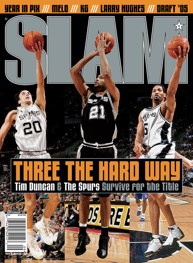 Three the Hard Way: Tim Duncan & The Spurs Survive for the Title SLAM Cover Photograph by Getty Images