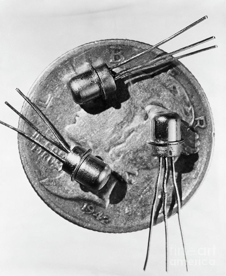 Three Transistors On A Dime Photograph by Bettmann