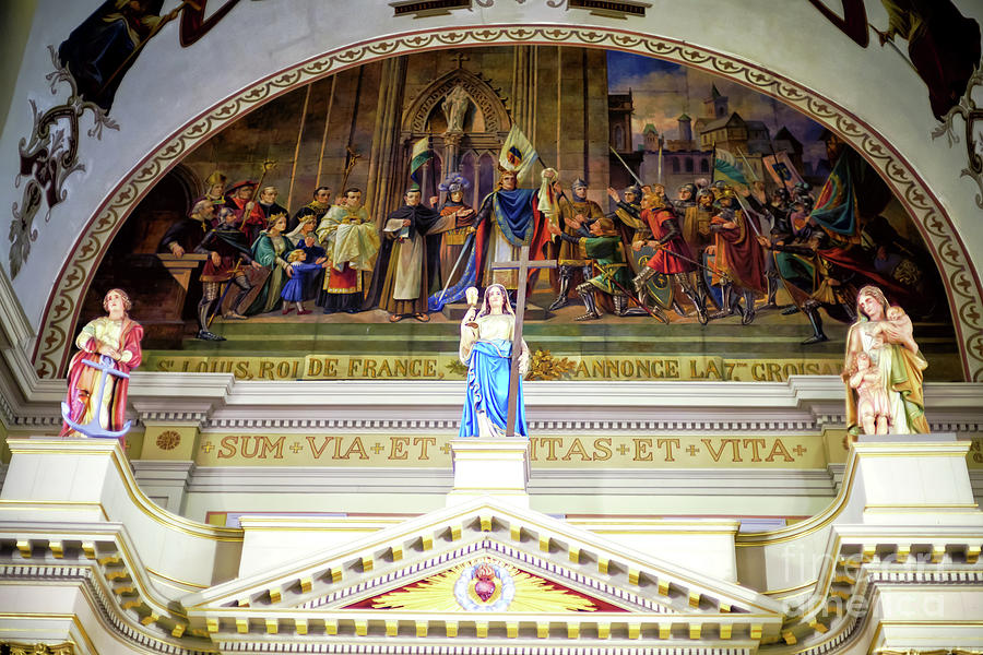 Three Virtues at St. Louis Cathedral in New Orleans by John Rizzuto