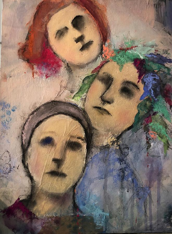 Abstract Painting - Threes by Debbie Callahan