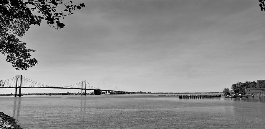 THROGS NECK BRIDGE in BLACK AND WHITE by Rob Hans