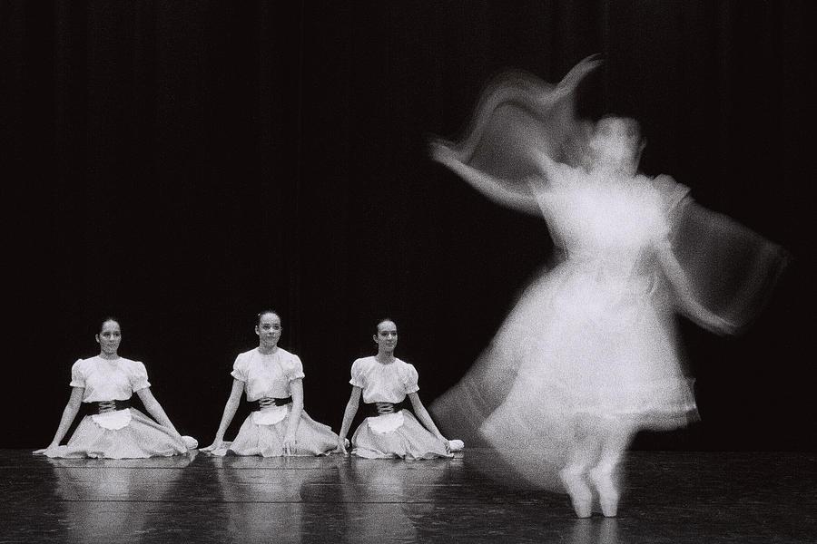 Analogic Photograph - Through A Dancing Body by Nuno Borges