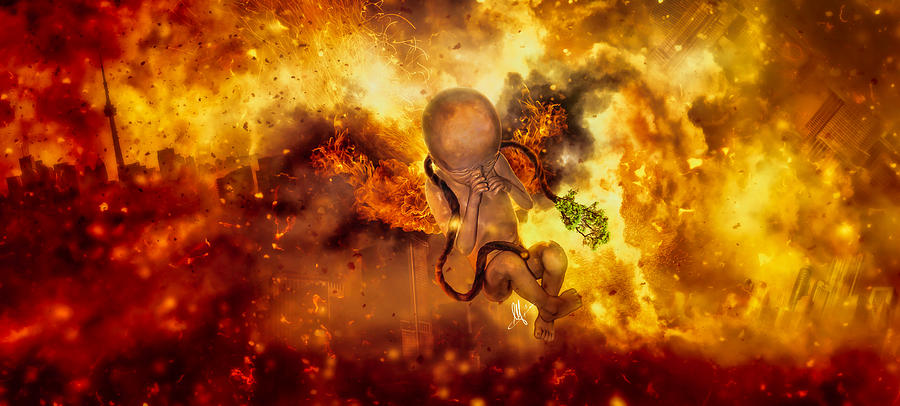 Surreal Digital Art - Through Ashes Rise II by Mario Sanchez Nevado