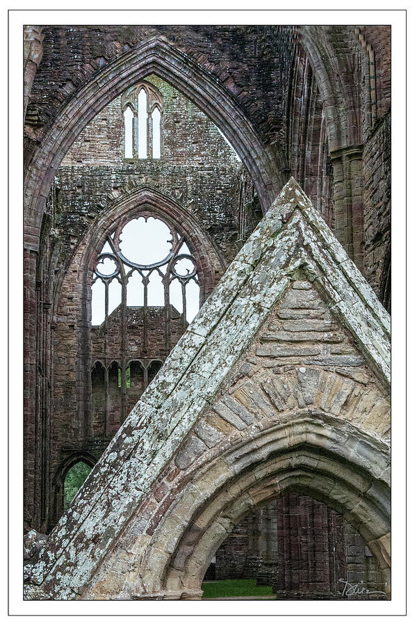 Through the Arches in Tintern Abbey by Peggy Dietz