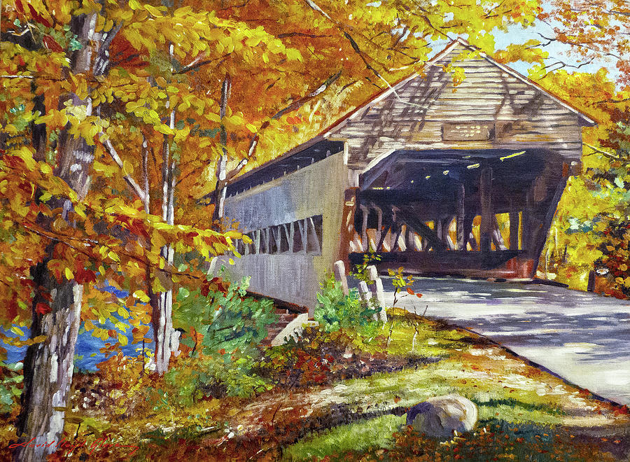 THROUGH THE COVERED BRIDGE by David Lloyd Glover