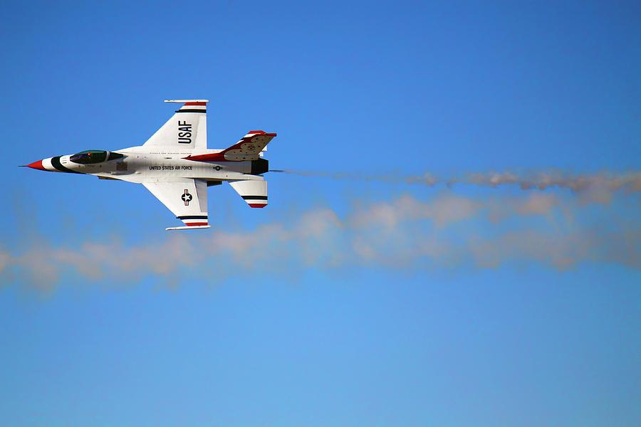 Through the Smoke - Air Force Thunderbirds - USAF F-16 by Jason Politte