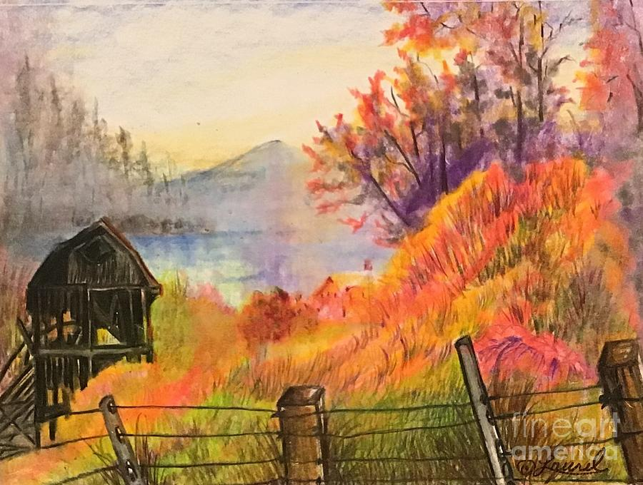 Landscape Drawing - Throwing Dreams by Laurel Adams