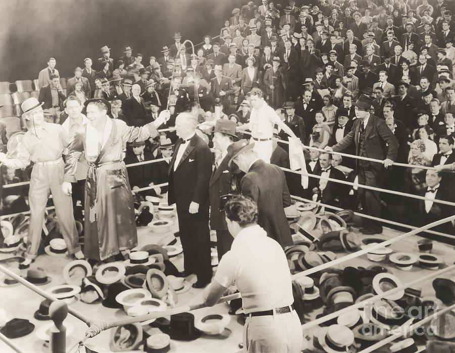 1940s Photograph - Throwing Their Hats Into The Ring by Everett Collection