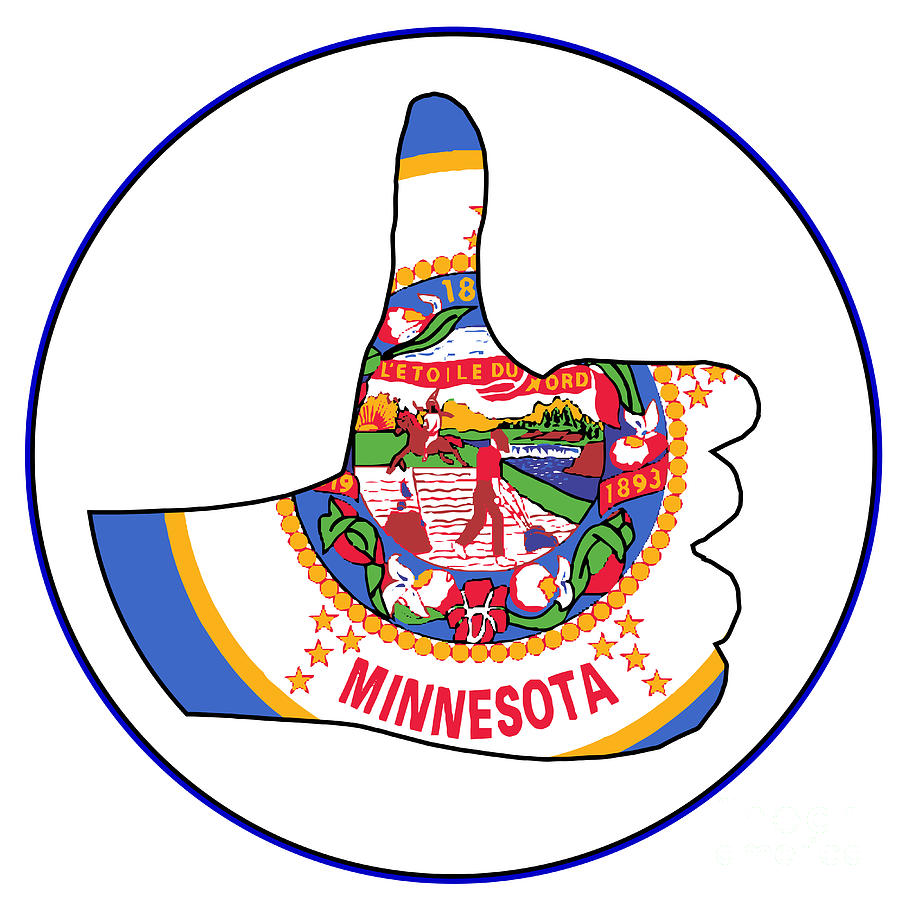 Minnesota Digital Art - Thumbs Up Minnesota by Bigalbaloo Stock