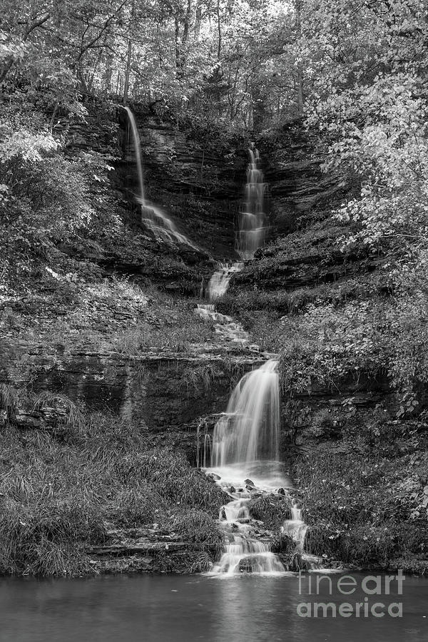 Thunder Falls Grayscale by Jennifer White