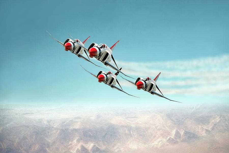Aviation Digital Art - Thunder Over Nellis by Peter Chilelli