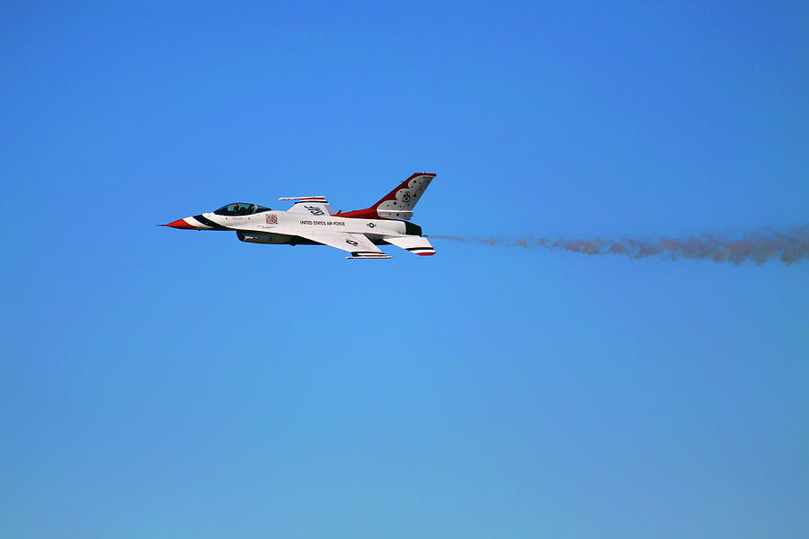 Thunderbird 6 Flying Low - Air Force Thunderbirds - USAF F-16 by Jason Politte