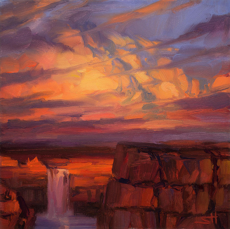 Thundercloud Over The Palouse Painting