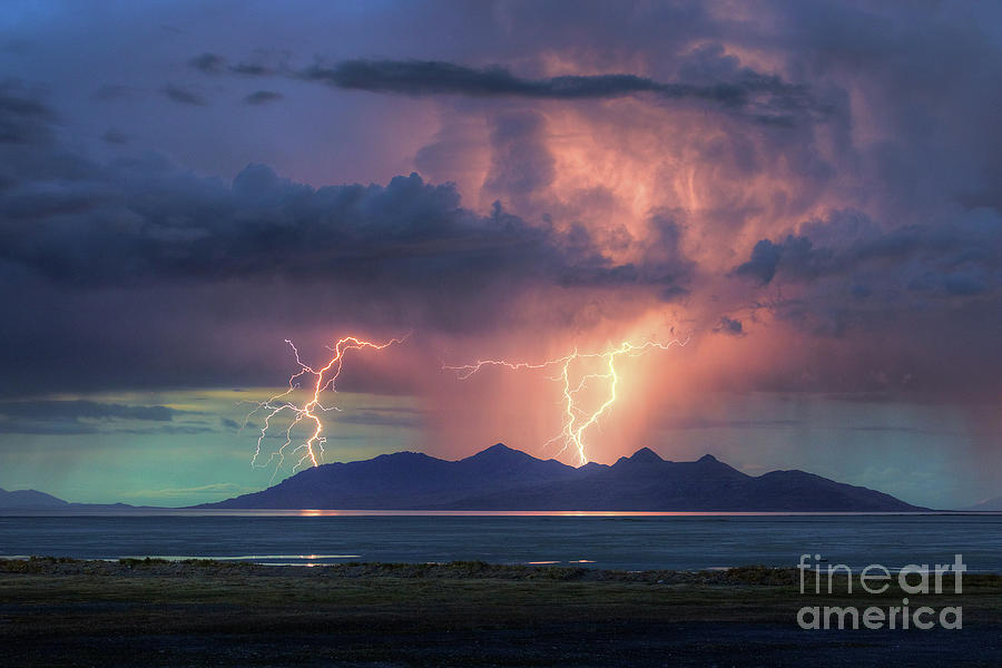 Thunderstorm over Antelope Island by Spencer Baugh