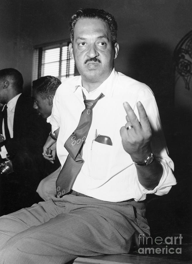 Thurgood Marshall At Naacp Meeting Photograph by Bettmann