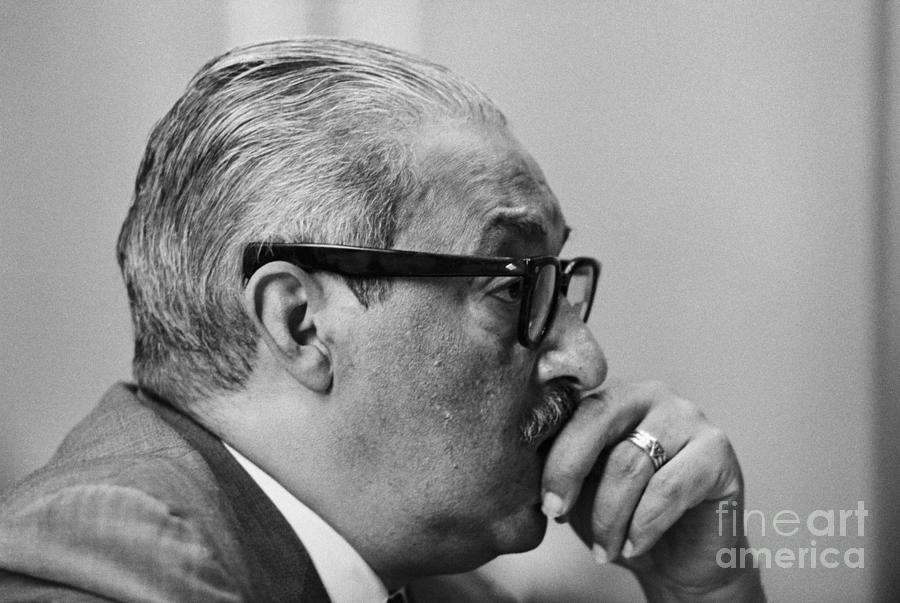 Thurgood Marshall During Supreme Court Photograph by Bettmann