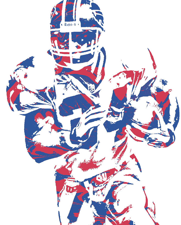 Thurman Thomas Buffalo Bills Pixel Art 1