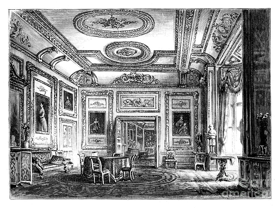 Thw White Drawing Room, Windsor Castle Drawing by Print Collector