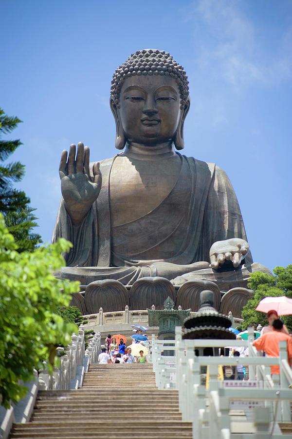 Tian Tan Buddha Statue, Lantau Island Photograph by Greg Elms