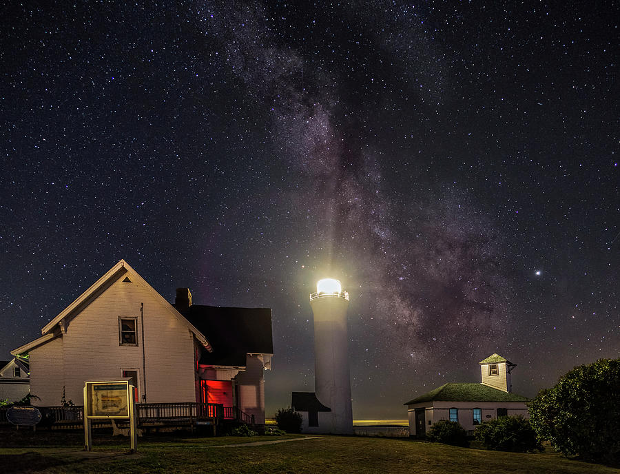 Tibbetts Light and the Milky Way by Mark Papke