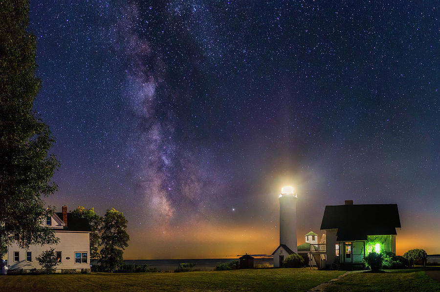 Tibbetts Point at Night by Mark Papke