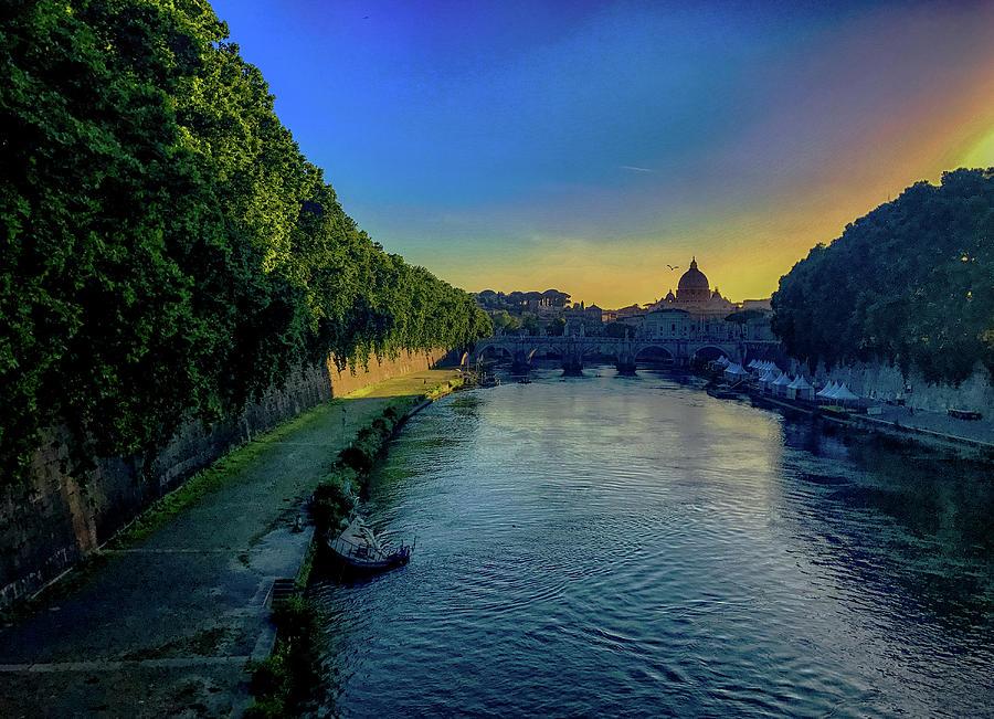 Italia Photograph - Tiber Evening by Joseph Yarbrough