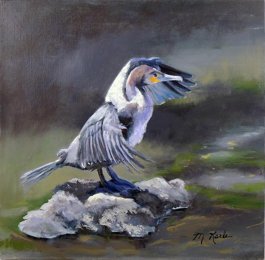 Tiber River Cormorant by Marsha Karle