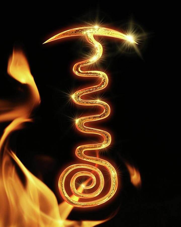 Alternative Digital Art - Tibetan Fire Serpent by Enrique Cordero