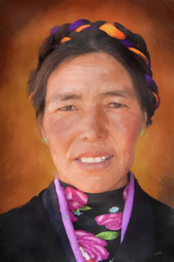 Tibetan Woman - DWP5001360 by Dean Wittle