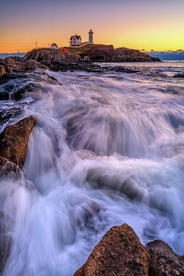 Tidal Cascade at Cape Neddick by Rick Berk