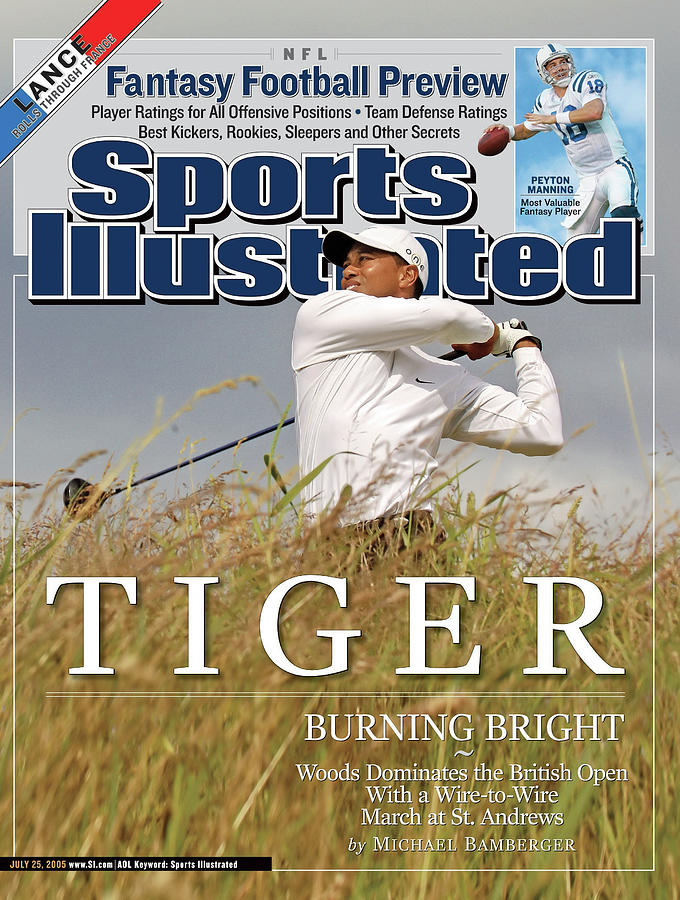 Tiger Burning Bright Woods Dominates The British Open With Sports Illustrated Cover Photograph by Sports Illustrated