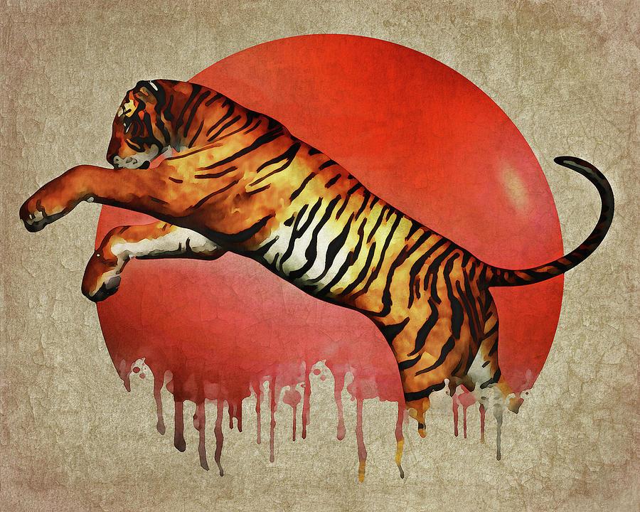Tiger Fighting by Jan Keteleer