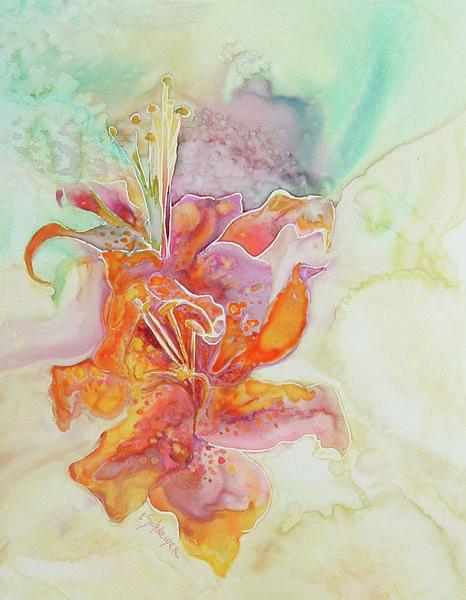 Tiger Lilies by Edie Schneider