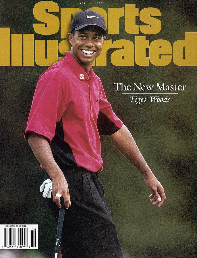 Tiger Woods, 1997 Masters Sports Illustrated Cover Photograph by Sports Illustrated