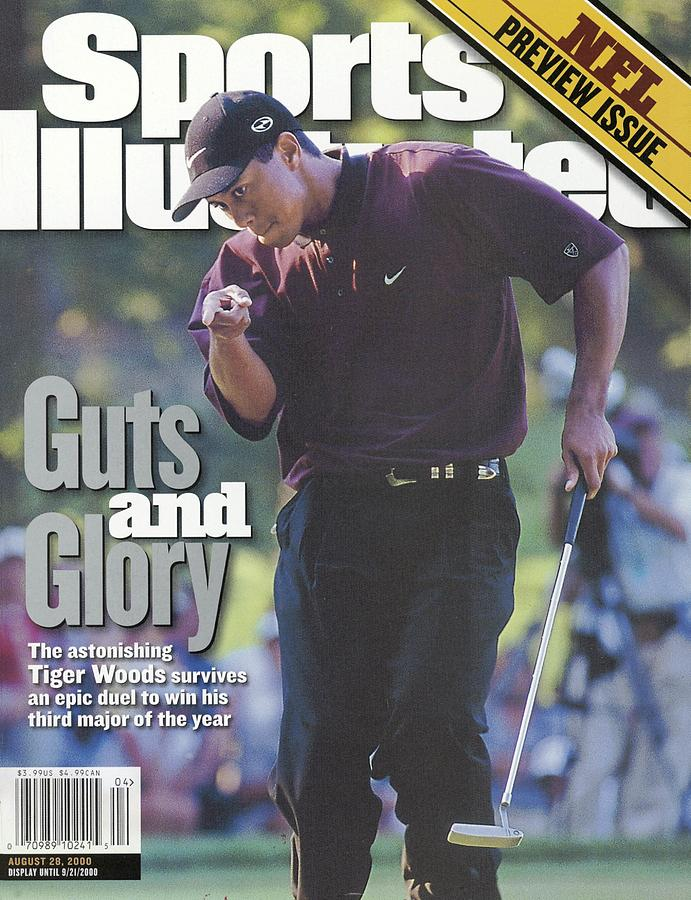 Tiger Woods, 2000 Pga Championship Sports Illustrated Cover Photograph by Sports Illustrated