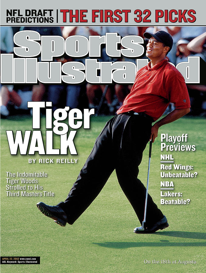 Tiger Woods, 2002 Masters Sports Illustrated Cover Photograph by Sports Illustrated