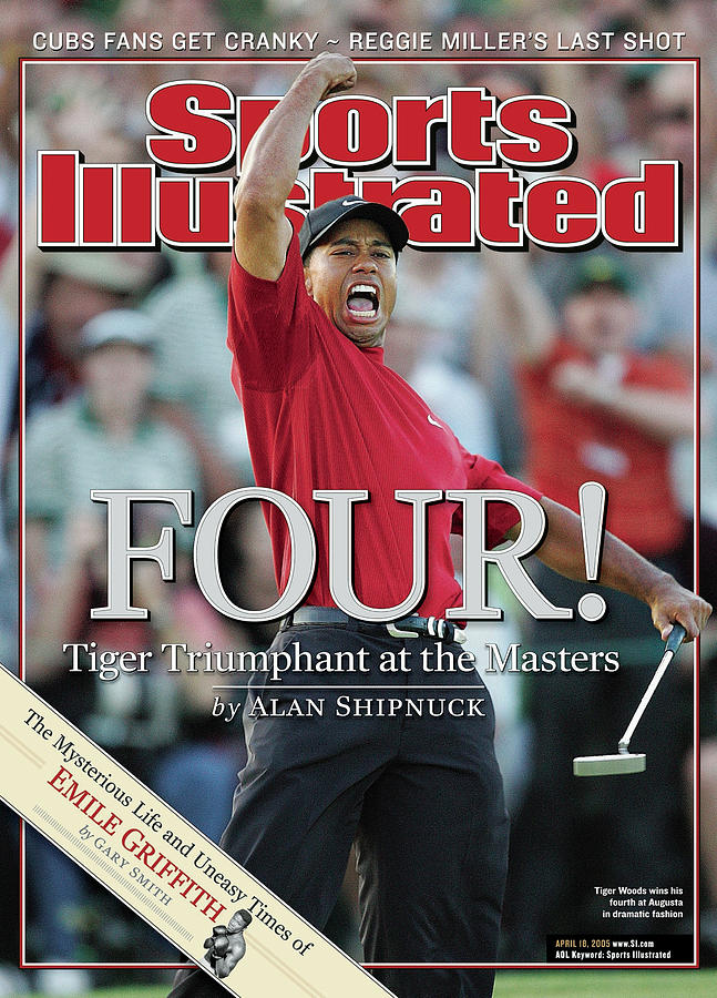 Tiger Woods, 2005 Masters Sports Illustrated Cover Photograph by Sports Illustrated