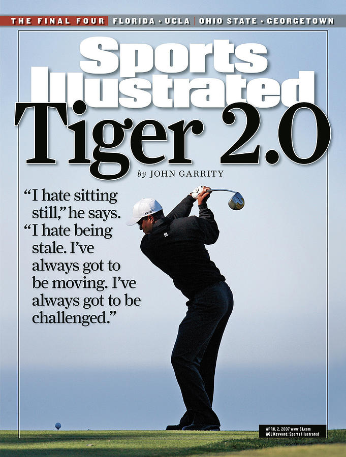 Tiger Woods, 2007 Buick Invitational Practice Round Sports Illustrated Cover Photograph by Sports Illustrated