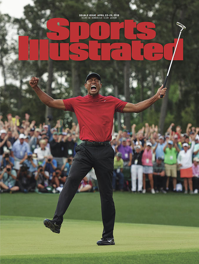 Magazine Cover Photograph - Tiger Woods, 2019 Masters Tournament Champion Sports Illustrated Cover by Sports Illustrated