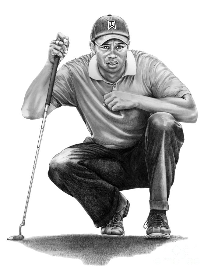 Tiger Woods Crouching Tiger by Murphy Elliott